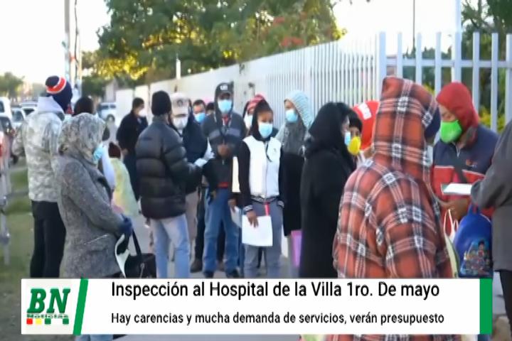 Lee más sobre el artículo Supervisan Hospital de La Villa 1ro de mayo y ven falencias, verán de elevar presupuesto de salud