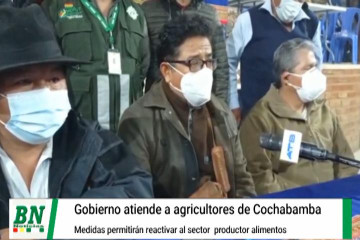 Lee más sobre el artículo Ministro y productores del agro de Cochabamba logran acuerdo y reactivaran producción