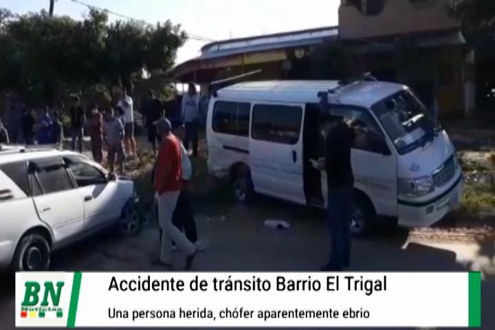 Lee más sobre el artículo Choque de vehículos con una persona herida, aparentemente chofer estaría ebrio