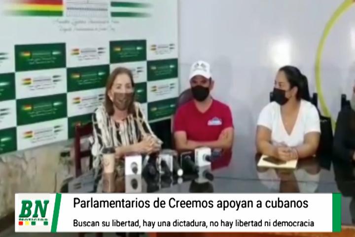 Lee más sobre el artículo Cubanos que protestan contra su gobierno son apoyados por Creemos, OEA toma posición por libertad