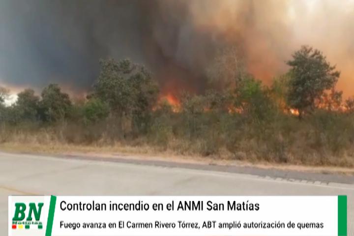 Lee más sobre el artículo Controlan incendio en San Matías pero en El Carmen amenaza con avanzar y bomberos trabajan en la zona