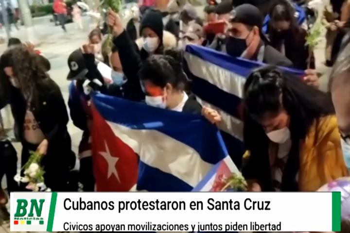 Lee más sobre el artículo Cubanos realizaron un mitin de protesta y los cívicos le dieron su apoyo en busca de libertad y democracia para la misma