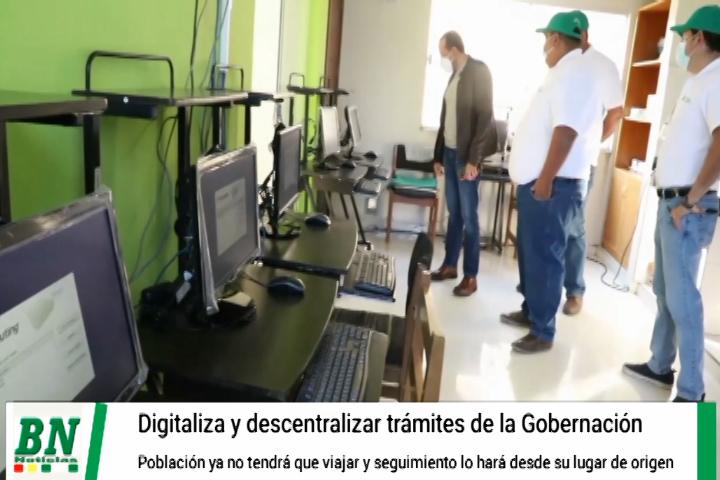 Lee más sobre el artículo Gobernación digitaliza y descentraliza atención al público a las provincias, ya no tendrán que viajar para realizar sus trámites