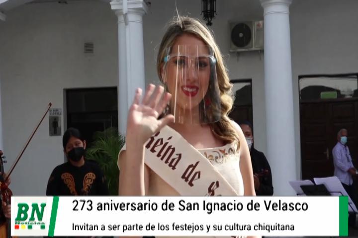 Lee más sobre el artículo San Ignacio invita a participar de sus 273 años de fundación donde Romira será coronada
