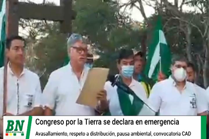 Lee más sobre el artículo Cívicos en Congreso por la Tierra se declaran en emergencia y alistan movilizaciones por avasallamientos, boicot del INRA y pausa ambiental