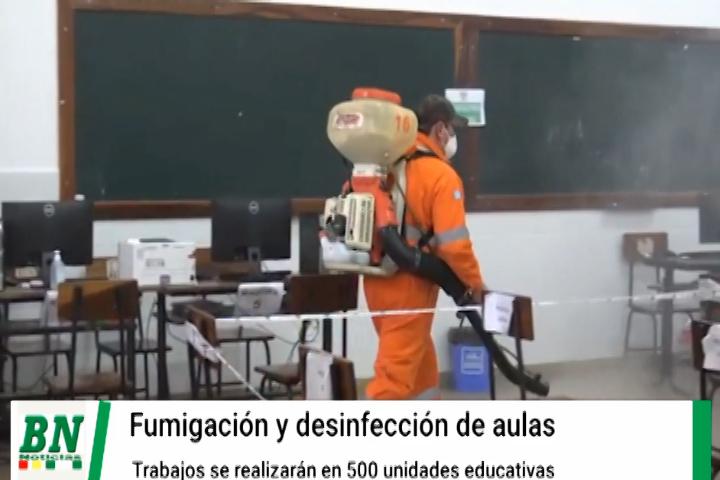 Lee más sobre el artículo Desinfectan y limpian aulas de 500 unidades educativas