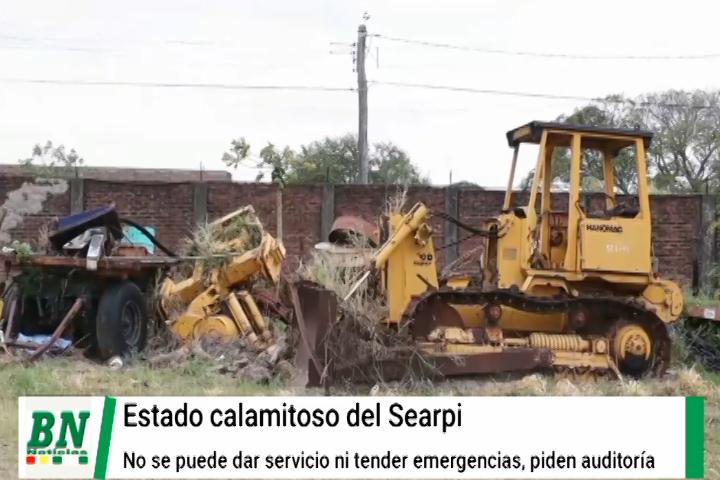 Lee más sobre el artículo Equipos del Searpi en ruinas y no permitirán atender emergencias, pedirán auditoria y ya inician reparaciones