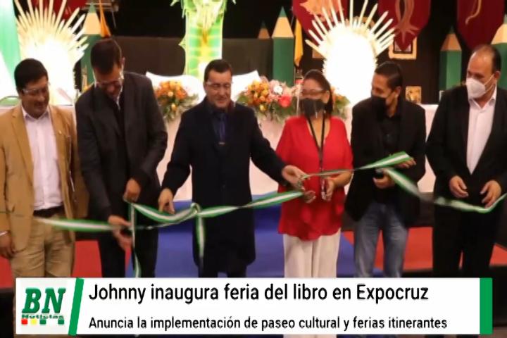 Lee más sobre el artículo Johnny inaugura la feria del Libro y anuncia la implementación de paseo cultural itinerante