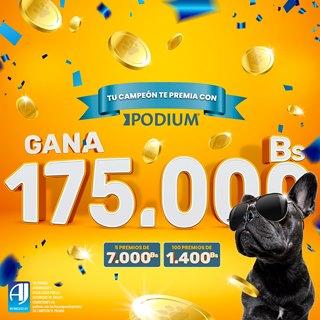 Lee más sobre el artículo PODIUM, premia a los dueños de perritos con 175.000 bs en más de 100 premios