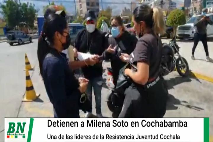 Lee más sobre el artículo Detienen a la activista y líder de Resistencia Juvenil Cochala Milena Soto, piden defenderla