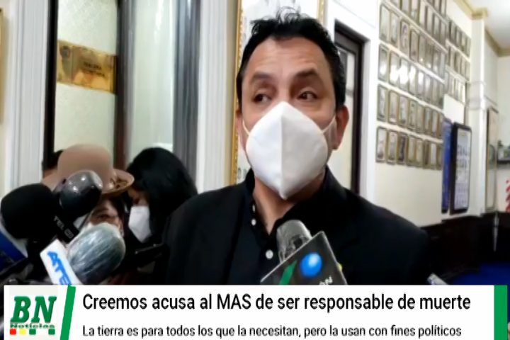 Lee más sobre el artículo La tierra es para todos, dice Senador Montero y acusa al MAS de usarla politicamente y ser responsable de muerte de Chiquitano
