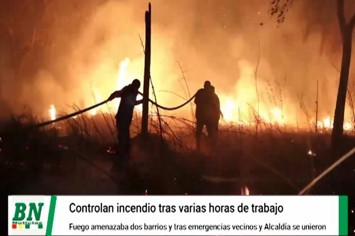 Lee más sobre el artículo Controlan incendio que avanzaba contra dos barrios en San Ignacio, reportan emergencias en 5 municipios