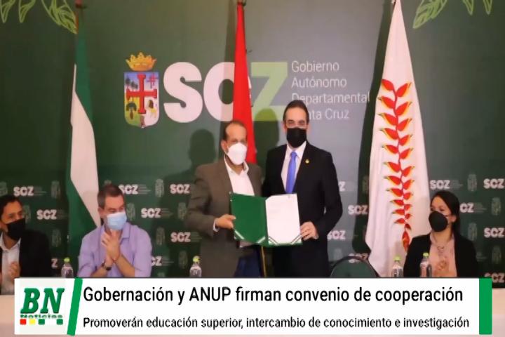 Lee más sobre el artículo Gobernación y ANUP firman convenio de cooperación que promoverá la educación superior, intercambio de conocimiento y la investigación