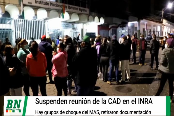 Lee más sobre el artículo Suspenden CAD en el INRA ante amenazas y retiro de documentación, Cívicos realizaban vigilia