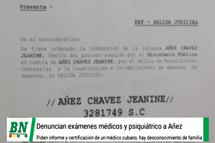 Lee más sobre el artículo Senadora Rek pide informe por realización de exámen a Jeanne Añez por médico cubano