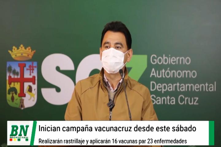 Lee más sobre el artículo Inician campaña Vacunacruz desde este fin de semana para inmunizar con 16 dosis de 23 enfermedades a niños de todo el departamento