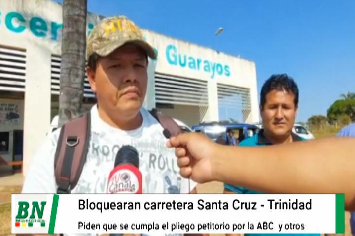 Lee más sobre el artículo Transportistas de Guarayos bloquearán carretera Santa Cruz – Trinidad ante la no atención a su pliego petitorio