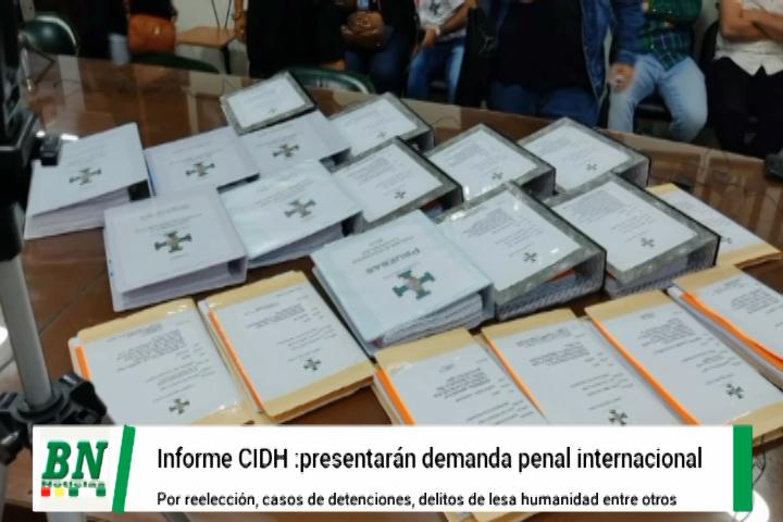 Lee más sobre el artículo Cívicos alistan demanda penal internacional contra Evo y otros por delitos de lesa humanidad por reelección y persecución política