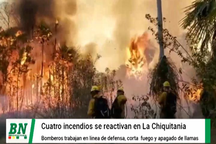 Lee más sobre el artículo Incendios se descontrolan y vuelven a afectar a cuatro municipios chiquitanos mientras bomberos trabajan en su control