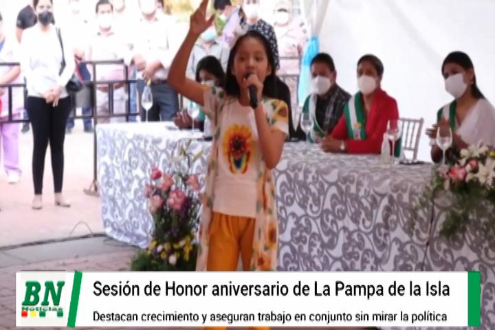 Lee más sobre el artículo En Sesión de Honor por aniversario de La Pampa de la Isla Johnny destaca su crecimiento