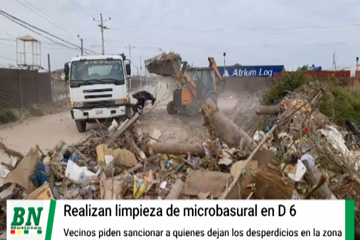 Lee más sobre el artículo Limpian microbasural en el Distrito 6 y vecinos piden sancionar a los que dejan sus desperdicios