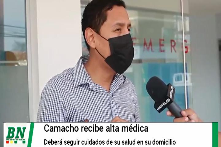 Lee más sobre el artículo Gobernador Luis Fernando Camacho recibe alta médica y reposará en su domicilio de donde seguirá sus actividades