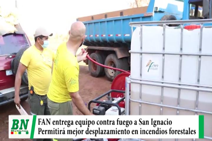 Lee más sobre el artículo Fundación Amigos de la Naturaleza entrega equipos contra fuego al municipio de San Ignacio para mejorar lucha contra incendios forestales
