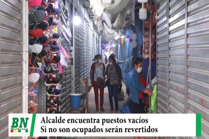 Lee más sobre el artículo Alcalde supervisa el mercado Nuevo La Ramada y encuentra puestos vacíos y amenaza con revestirlos
