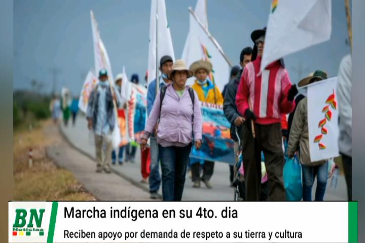 Lee más sobre el artículo Indígenas en su 4to día de marcha esperan ayuda de la población