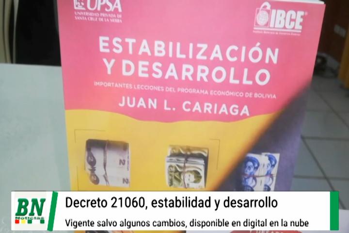 Lee más sobre el artículo Digitalizan el decreto 21060 y sus incidencias en homenaje póstumo a Juan Cariaga, que frenó la hiperinflación
