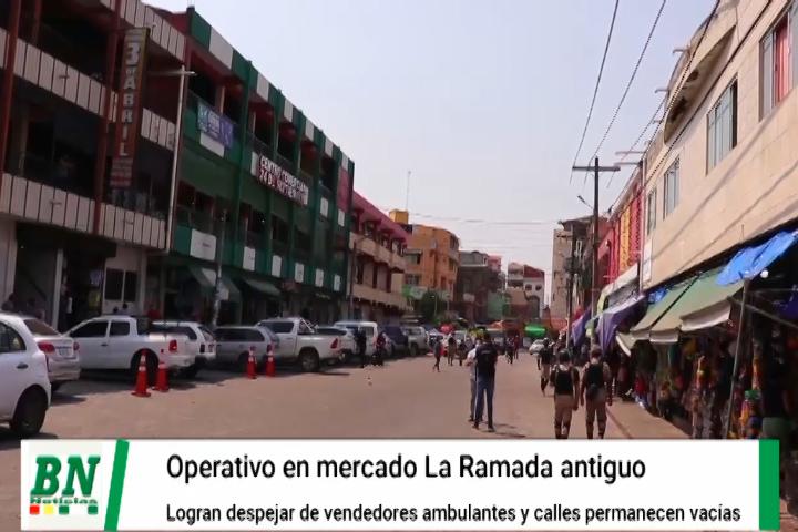 Lee más sobre el artículo Despejan calles y zonas públicas del mercado La Ramada antiguo y guardias municipales vigilan que no regresen los ambulantes