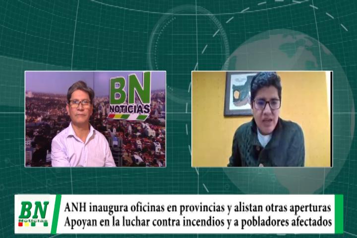 Lee más sobre el artículo ANH inauguró oficina en Puerto Quijarro y apoyan con tecnología, combustibles y productos para bomberos y población afectada por los incendios