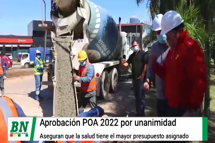 Lee más sobre el artículo Alcaldía aprueba POA 2022 y asegura que la salud tiene un mayor presupuesto asignado