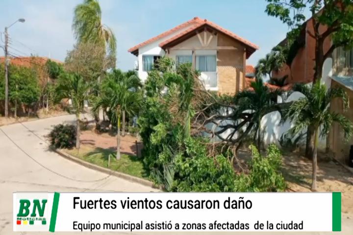 Lee más sobre el artículo Equipo municipal asistió a vecinos afectados por el fuerte viento mientras arreglan daño en parque
