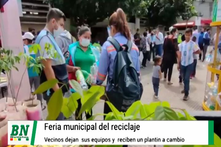 Lee más sobre el artículo Feria del reciclaje logra concienciar a la población y se llevan plantines ornamentales regionales
