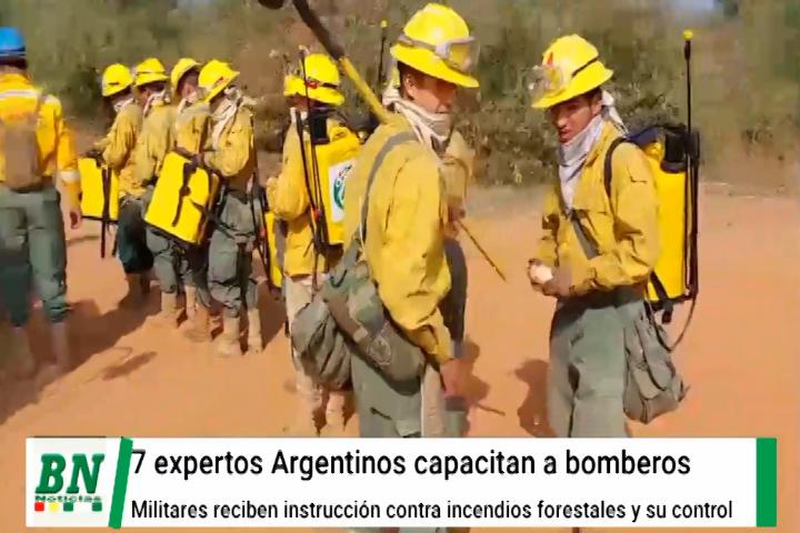 Lee más sobre el artículo Instructores Argentinos realizan curso a militares de Bolivia sobre control de incendios forestales