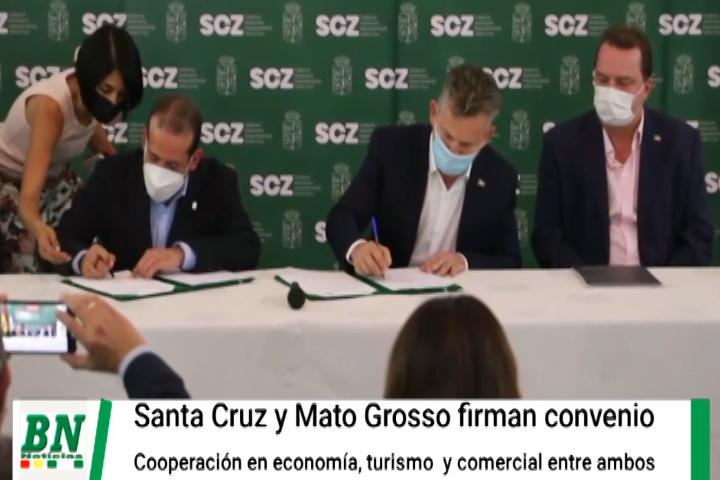 Lee más sobre el artículo Gobernadores de Santa Cruz y Mato Grosso acuerdan coordinar apoyo en turismo, economía y comercio entre ambas regiones