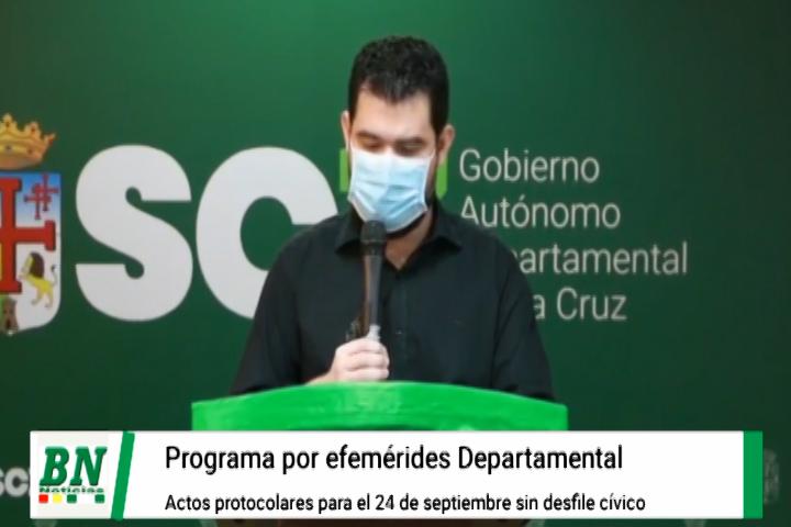 Lee más sobre el artículo Gobernación alista actos protocolares para el 24 de septiembre por la efemérides de Santa Cruz
