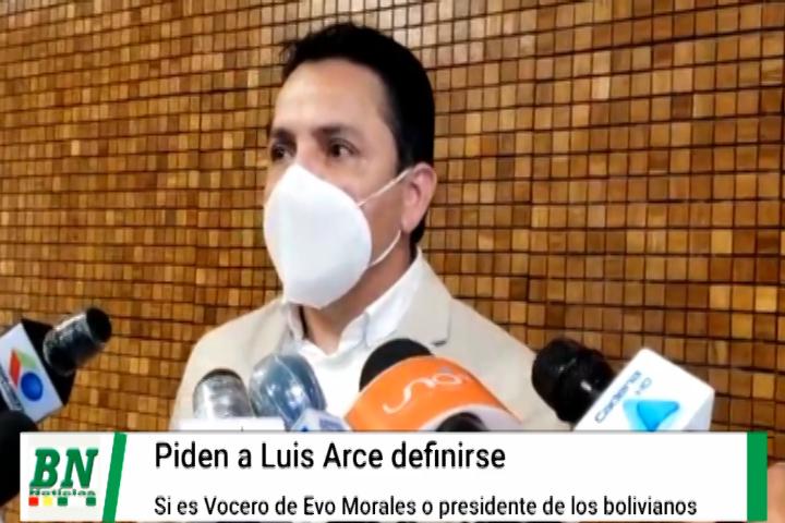 Lee más sobre el artículo Senador Montero pide a Luis Arce definirse si es vocero de Evo morales o presidente de los bolivianos