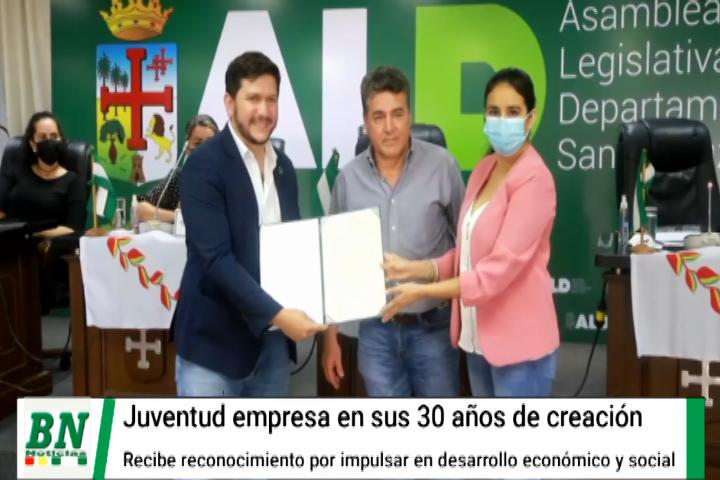 Lee más sobre el artículo Juventud empresa recibió reconocimiento por sus 30 años de creación y aporte al desarrollo económico y social