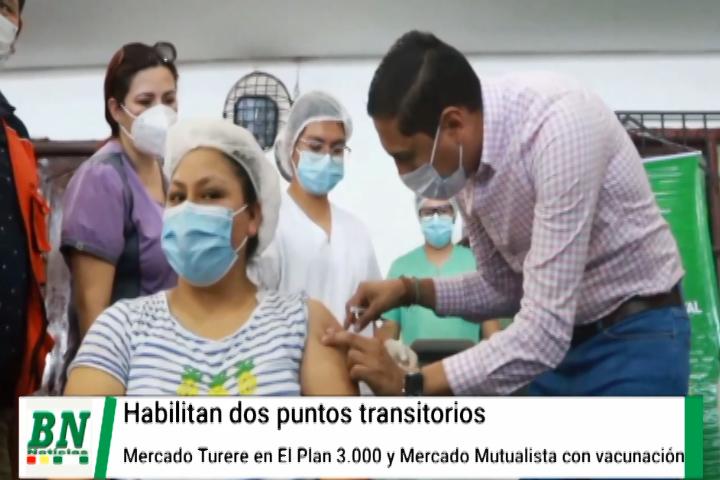 Lee más sobre el artículo Habilitan los mercados Turere (Plan 3.000) y Mutualista como puntos transitorios de vacunación