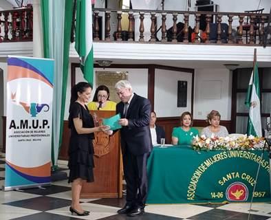 Lee más sobre el artículo DOCENTE UPSA RECIBIÓ  DISTINCIÓN DE AMUP