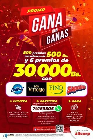 """Lee más sobre el artículo La nueva promo """"Gana con Ganas"""" de Alicorp trae  más de 400 mil bolivianos en premios en efectivo"""