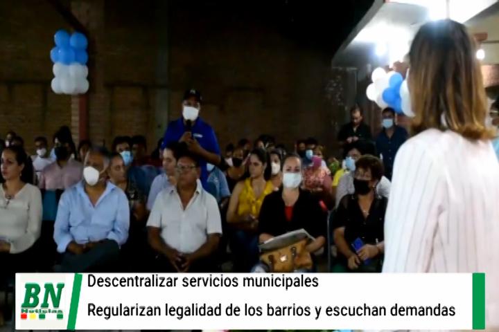 Lee más sobre el artículo Acercan los servicios a los distritos, Alcaldía intensifica campaña para la regulación de los barrios