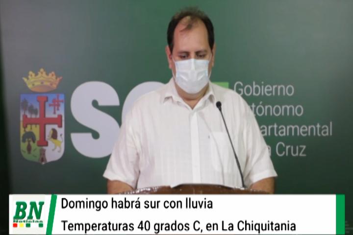 Lee más sobre el artículo Domingo vendrá el sur con lluvia; las temperaturas llegarán a 40° C en la Chiquitania