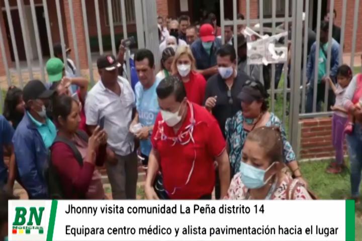 Lee más sobre el artículo Alcalde visita La Peña y se compromete en gestionar  pavimentación y en dotar de medicamentos e insumos a la brevedad para centro médico