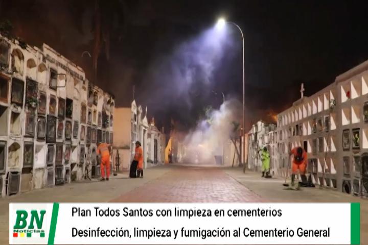 Lee más sobre el artículo Plan Todos Santos inicia con fumigado y desinfección en cementerios, dan plazo para arreglar mausoleos