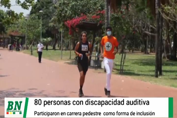 Lee más sobre el artículo Carrera pedestre de personas con discapacidad auditiva tuvo 80 participantes en el Parque Urbano