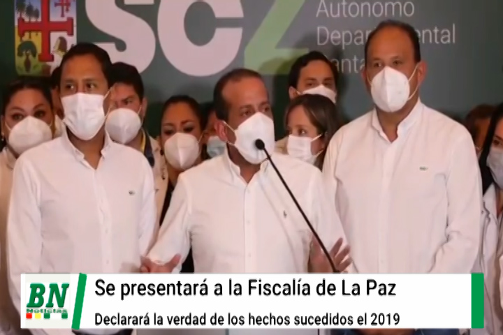 Lee más sobre el artículo Camacho se presentará a declarar a La Paz por el caso de supuesto golpe y contará la verdad