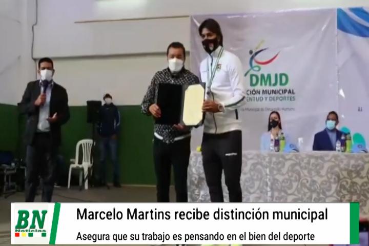 Lee más sobre el artículo Municipio distingue a Marcelo Martins por sus logros y el deportista asegura que trabaja en bien del deporte